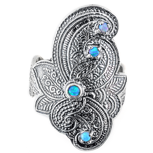 Ethnic silver ring